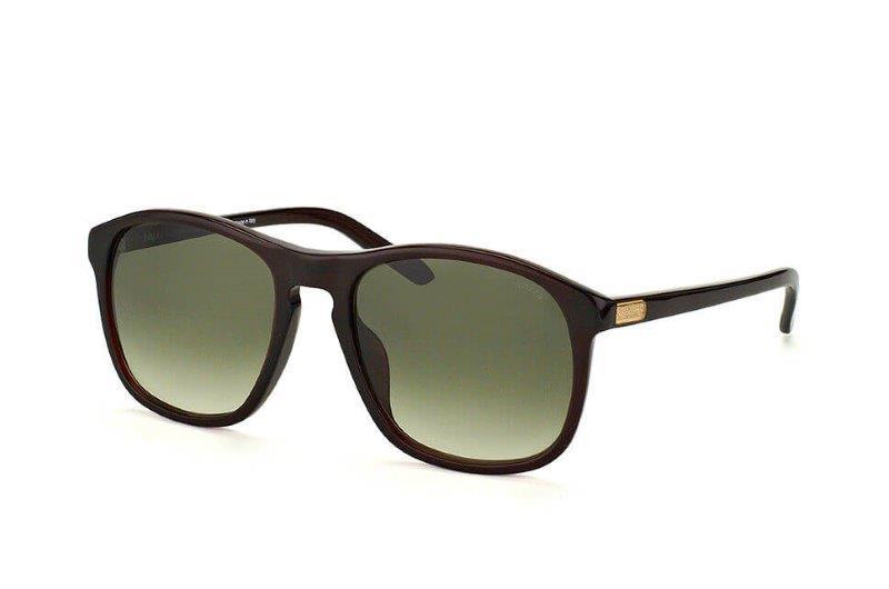 brun innfatning med grønt brilleglass fra Lozza