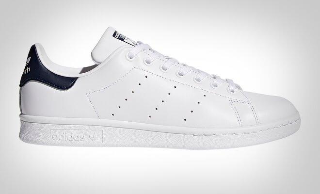 Klassiske hvite sneakers for menn