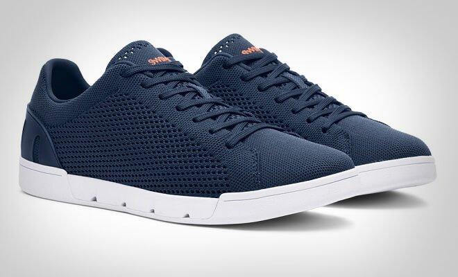 blå sneakers menn